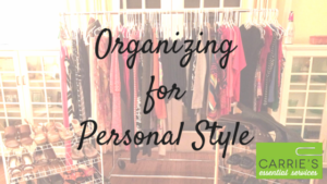Organizing for Personal Style